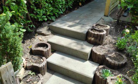 Gartentreppe einfach